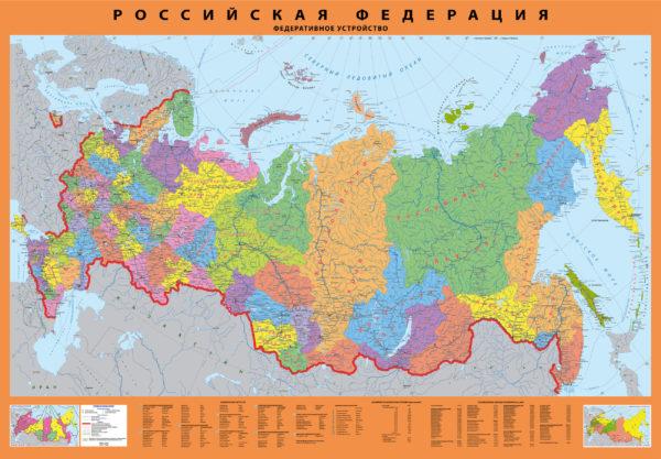 карта России с субъектами