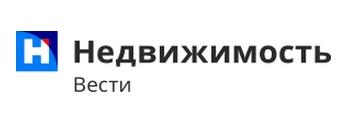 логотип Вести Недвижимость буква на фоне