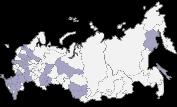 на фото изображена карта России на фоне