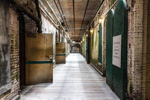 тюремный коридор с камерами
